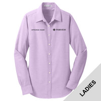 L658 - Ladies Oxford Woven Long Sleeve Shirt